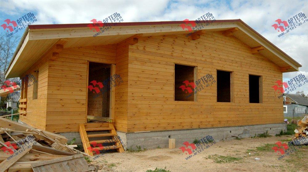 дом из профилированного бруса построенный по проекту Вариант 9.8 К фотография 2618