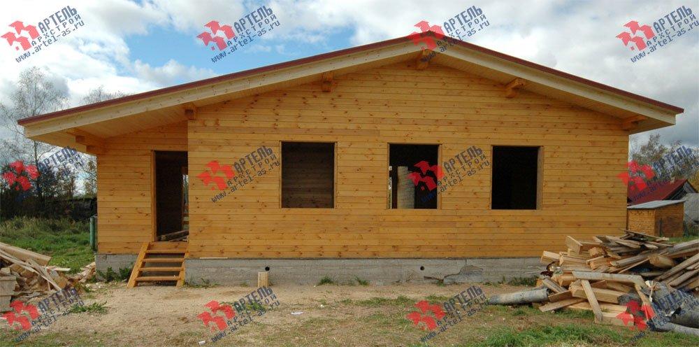 дом из профилированного бруса построенный по проекту Вариант 9.8 К фотография 2620