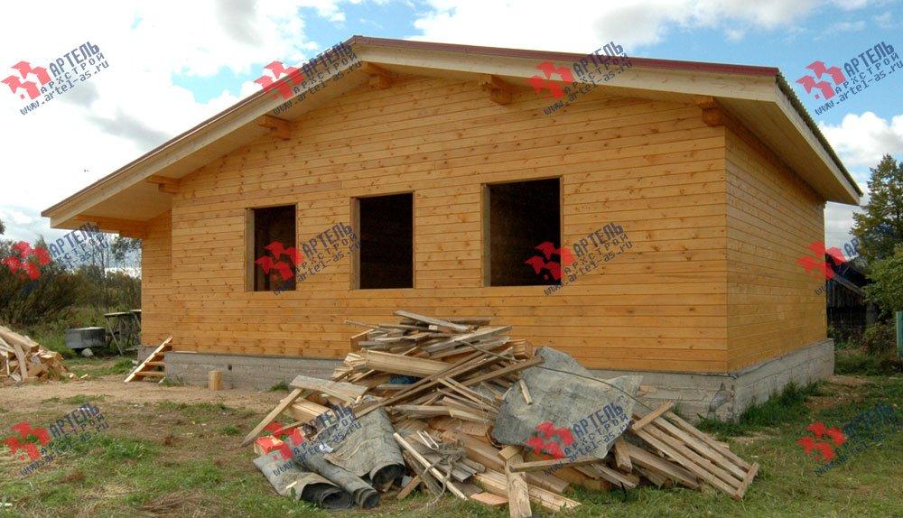 дом из профилированного бруса построенный по проекту Вариант 9.8 К фотография 2622