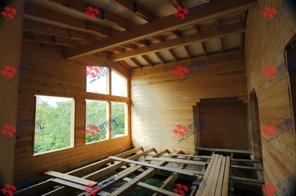 дом из профилированного бруса построенный по проекту Вариант 9.8 К фотография 2623