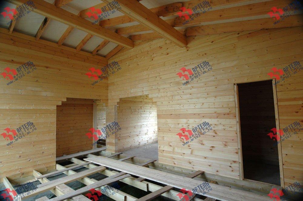 дом из профилированного бруса построенный по проекту Вариант 9.8 К фотография 2624