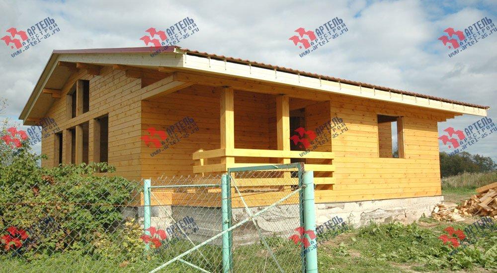 дом из профилированного бруса построенный по проекту Вариант 9.8 К фотография 2621