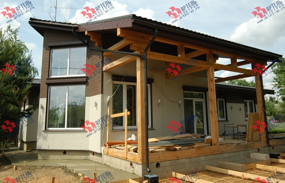 дом из профилированного бруса камерной сушки построенный по проекту Вариант 5 фотография 3146