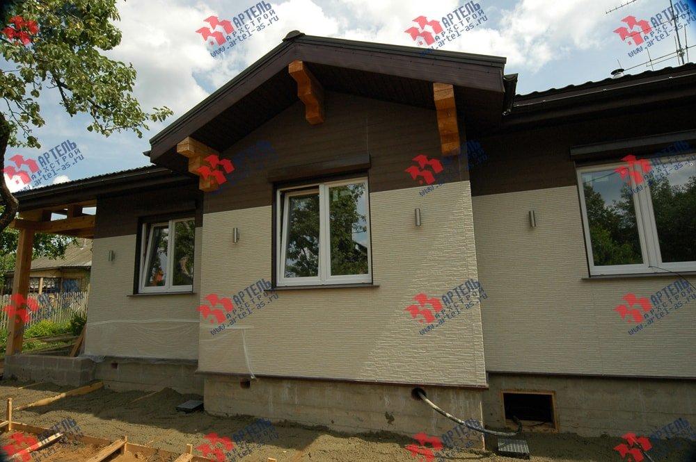 дом из профилированного бруса построенный по проекту Вариант 5 фотография 3148