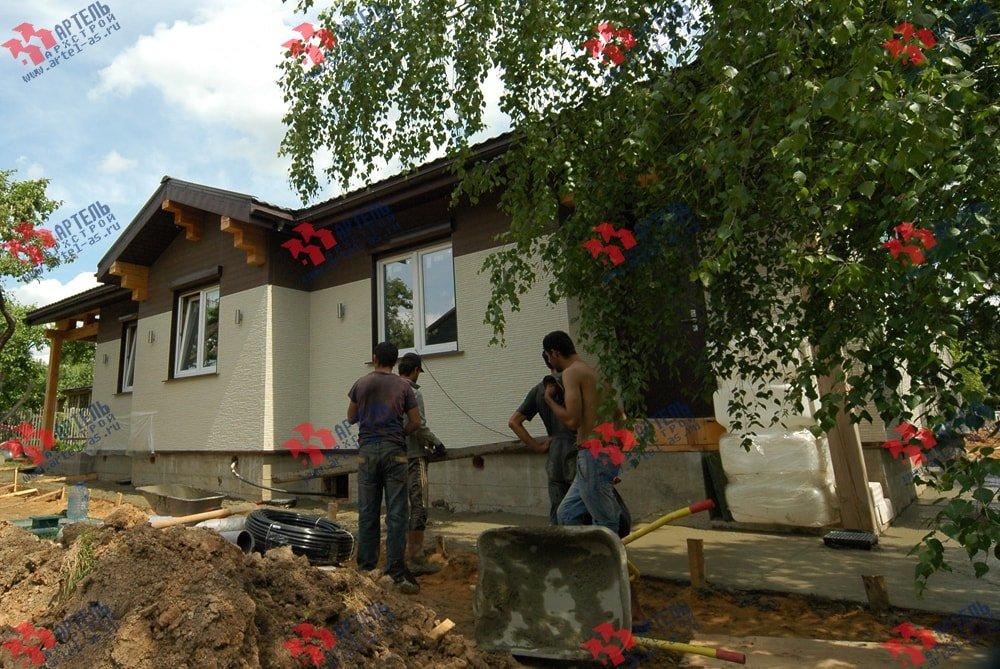 дом из профилированного бруса построенный по проекту Вариант 5 фотография 3150