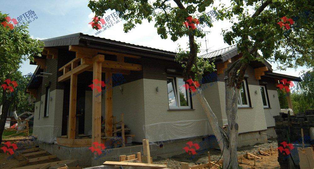 дом из профилированного бруса построенный по проекту Вариант 5 фотография 3151