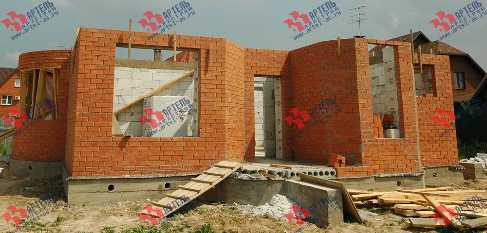 дом из камня построенный по проекту Вариант 25 фотография 3207