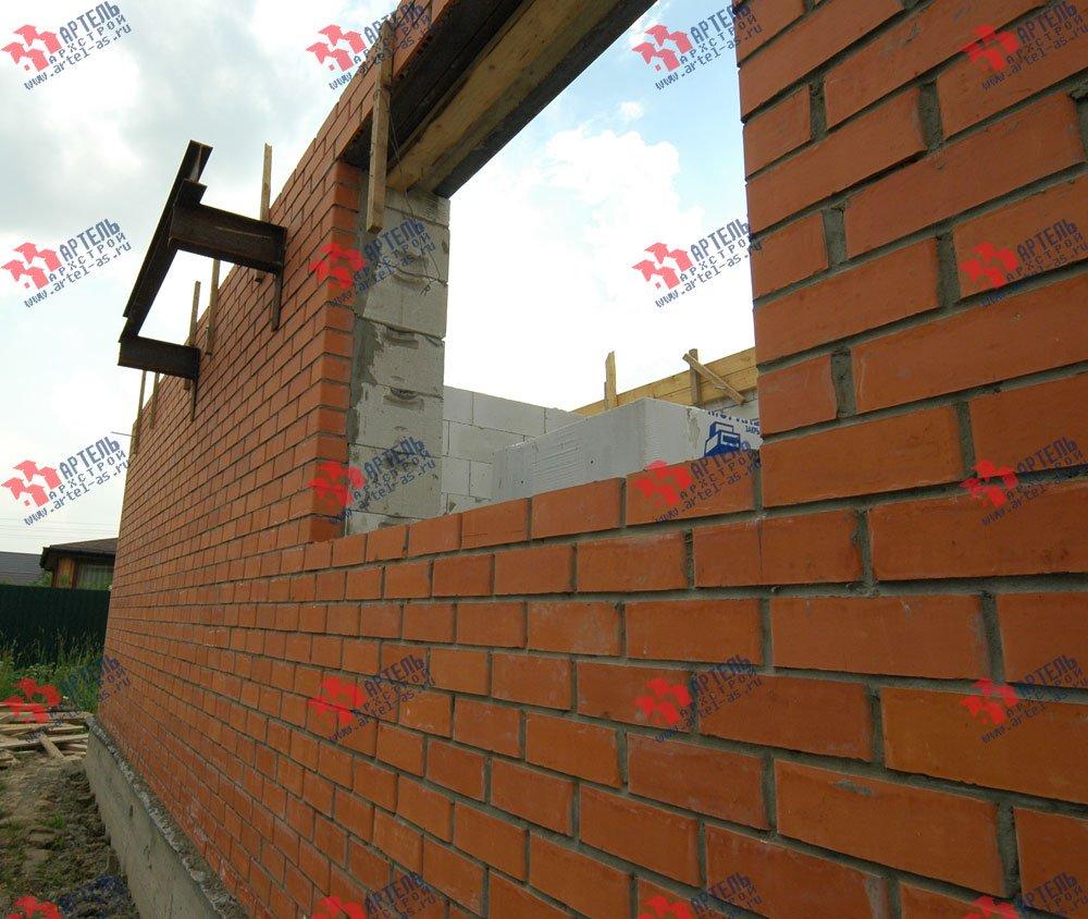 дом омбинированные дома построенный по проекту Вариант 25 фотография 3215