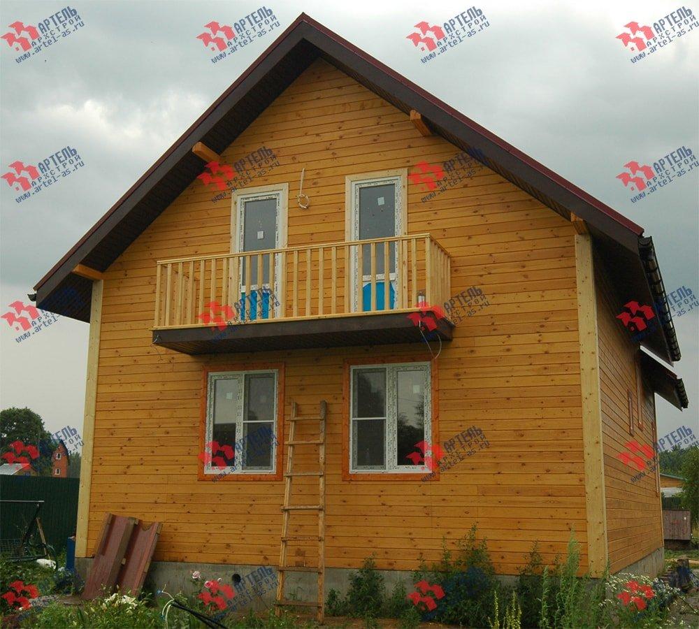 дом из бруса построенный по проекту Вариант 8.7 К фотография 2148