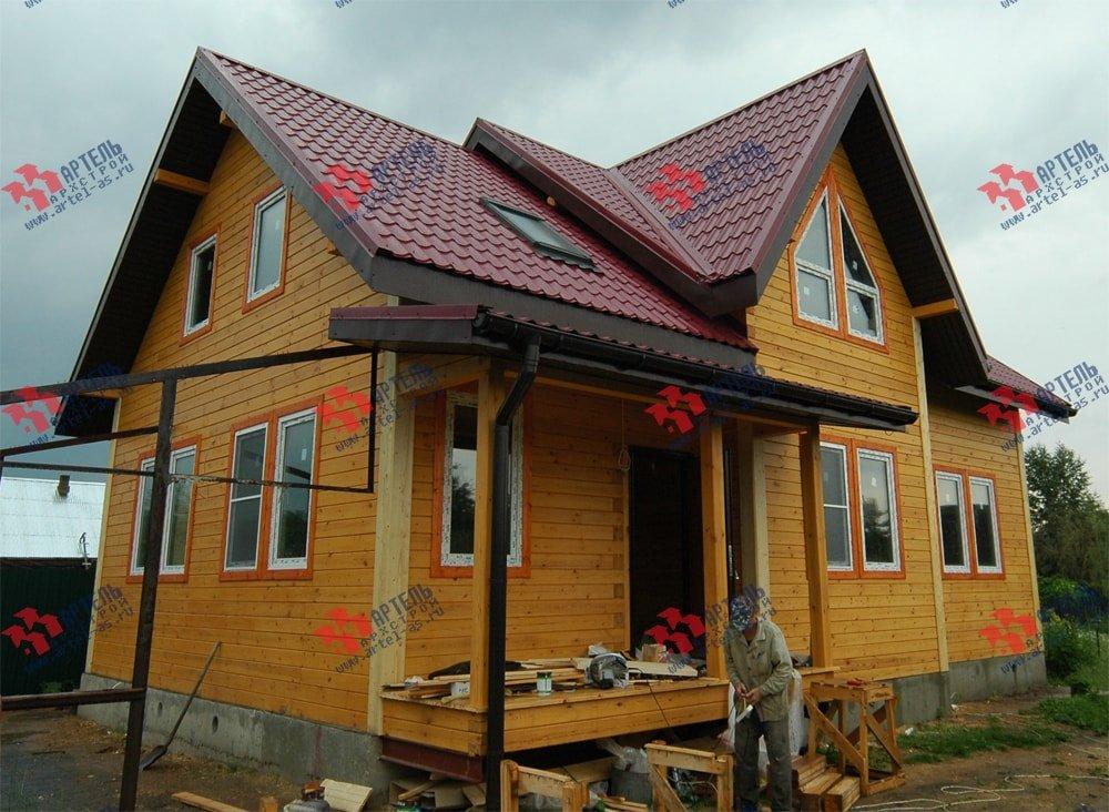 дом из бруса построенный по проекту Вариант 8.7 К фотография 2150