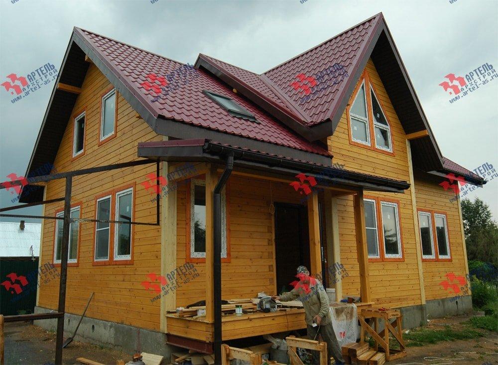 дом из бруса построенный по проекту Вариант 8.7 К фотография 2151