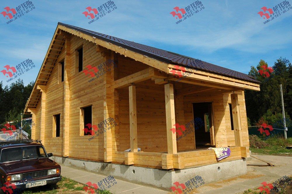 дом из профилированного бруса построенный по проекту Вариант 8.3 А фотография 3237