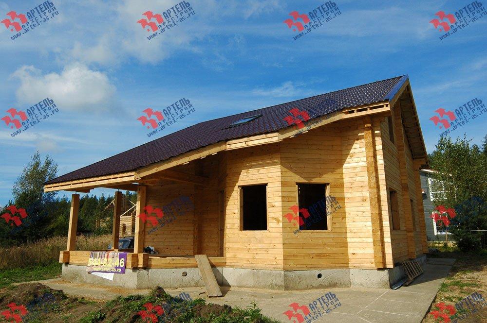 дом из профилированного бруса построенный по проекту Вариант 8.3 А фотография 3239