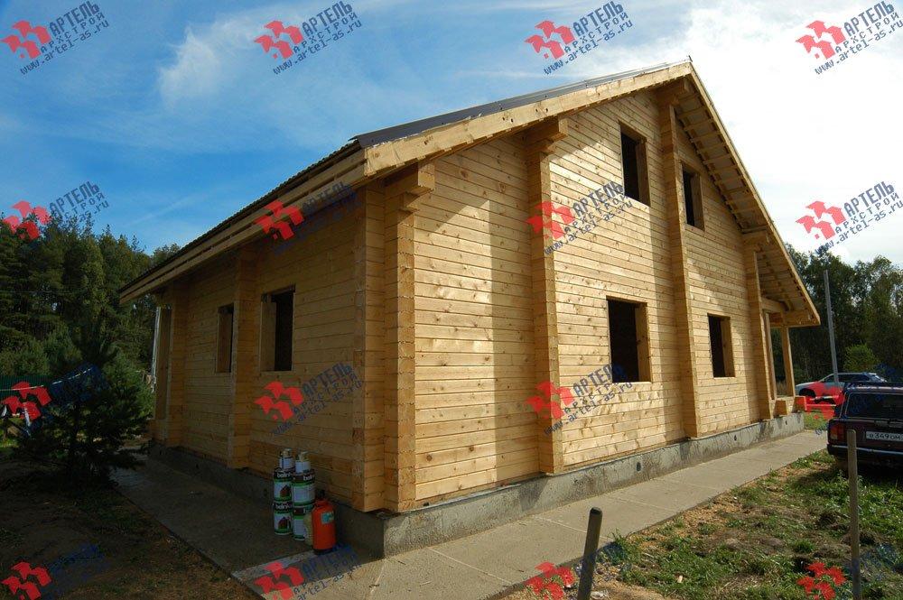 дом из профилированного бруса построенный по проекту Вариант 8.3 А фотография 3241