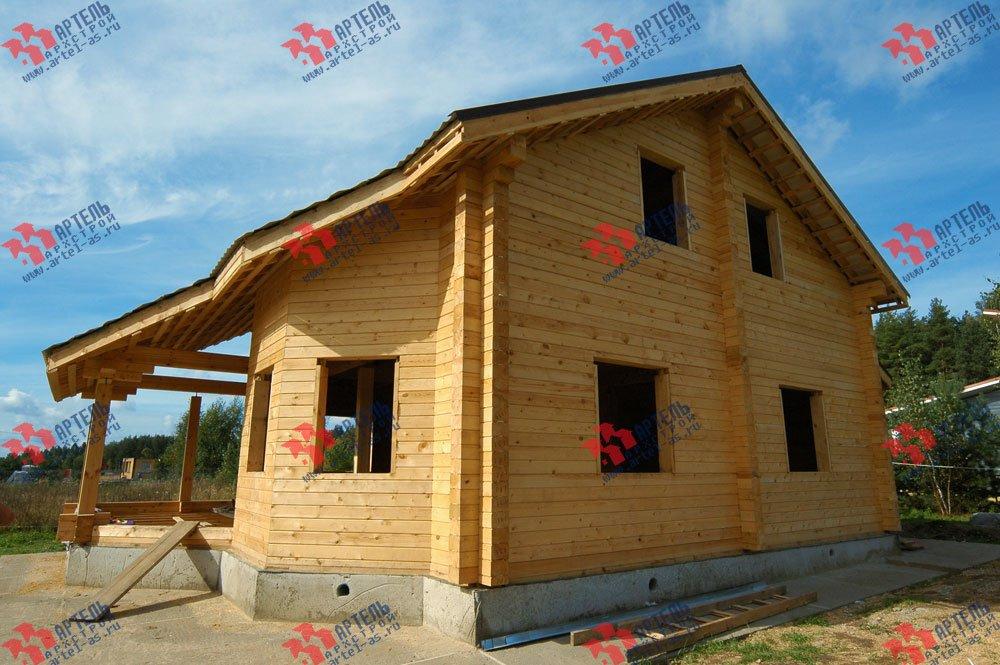 дом из профилированного бруса построенный по проекту Вариант 8.3 А фотография 3245