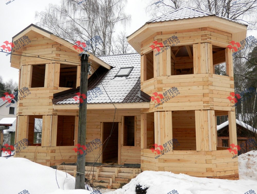 дом из бруса построенный по проекту Вариант 11.5 А фотография 2257
