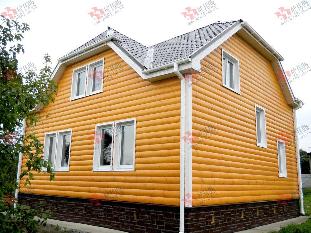 дом из бруса построенный по проекту Вариант 8 Н фотография 1770
