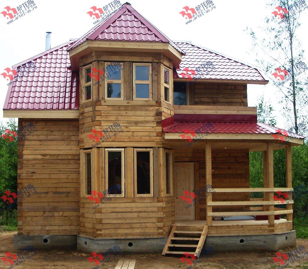 дом из профилированного бруса построенный по проекту Вариант 8 Л фотография 1757