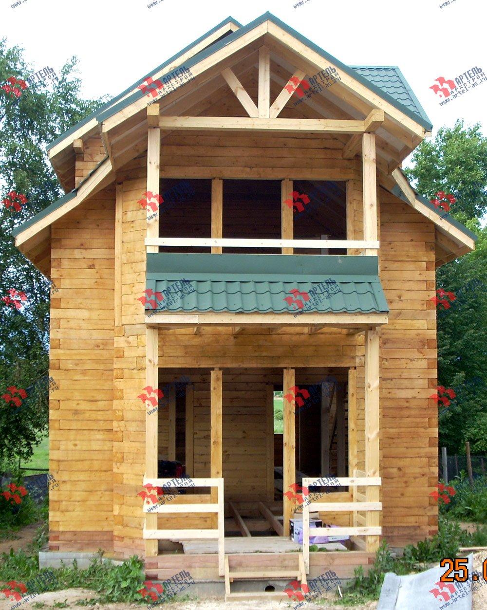 дом из бруса построенный по проекту Вариант 6.3 Н фотография 2303