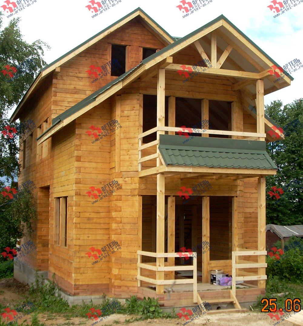 дом из бруса построенный по проекту Вариант 6.3 Н фотография 2304
