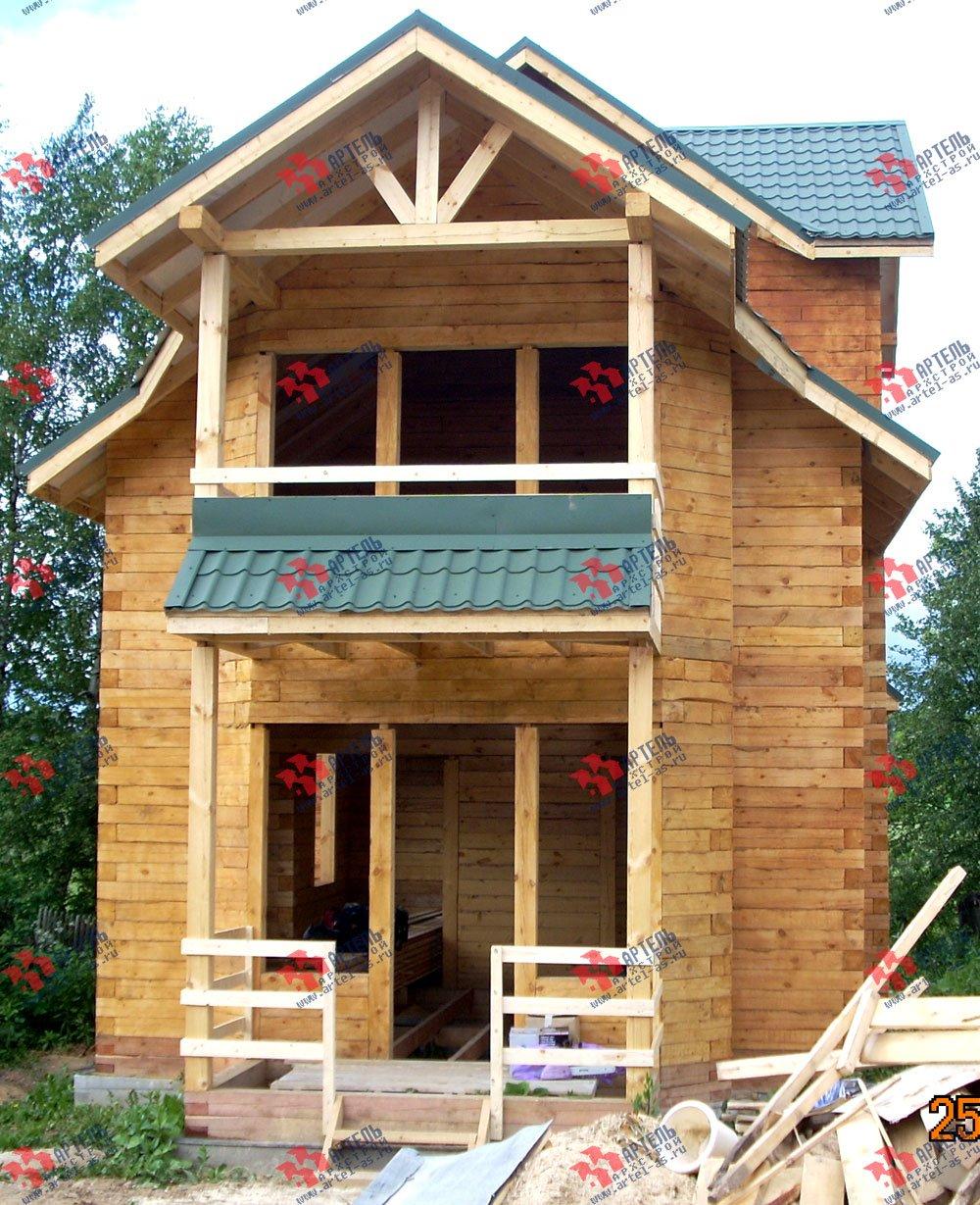 дом из бруса построенный по проекту Вариант 6.3 Н фотография 2305