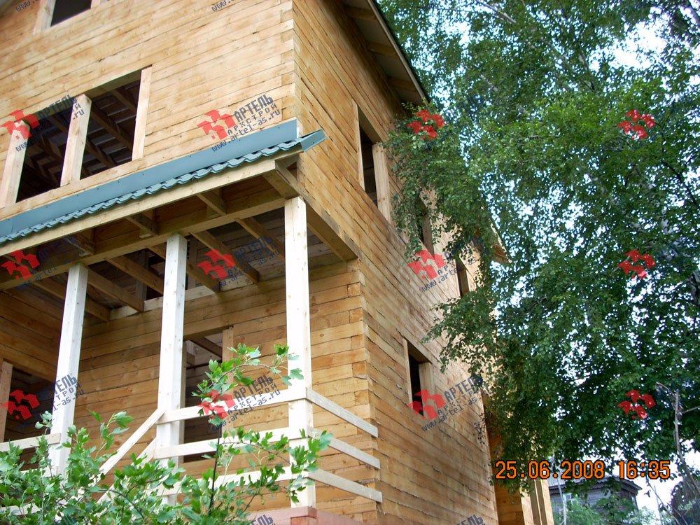 дом из бруса построенный по проекту Вариант 6.3 Н фотография 2310