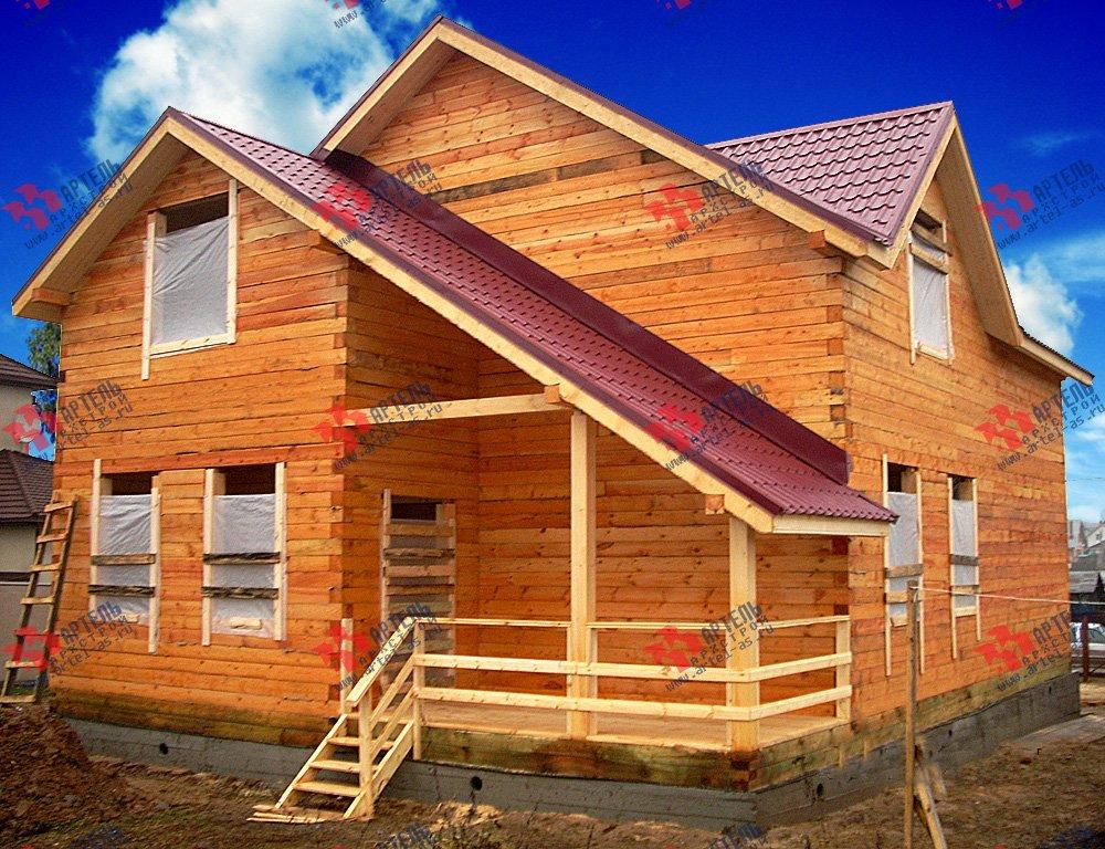 дом из бруса построенный по проекту Вариант 12.8 А фотография 1901
