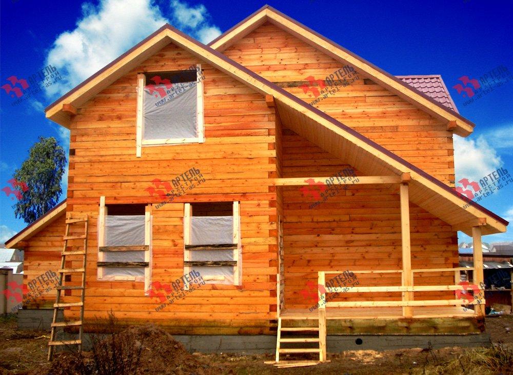 дом из бруса построенный по проекту Вариант 12.8 А фотография 1902