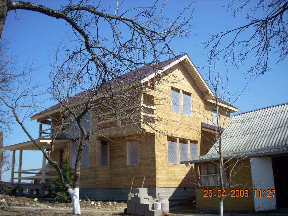 дом из профилированного бруса построенный по проекту Вариант 10.5 А фотография 5871