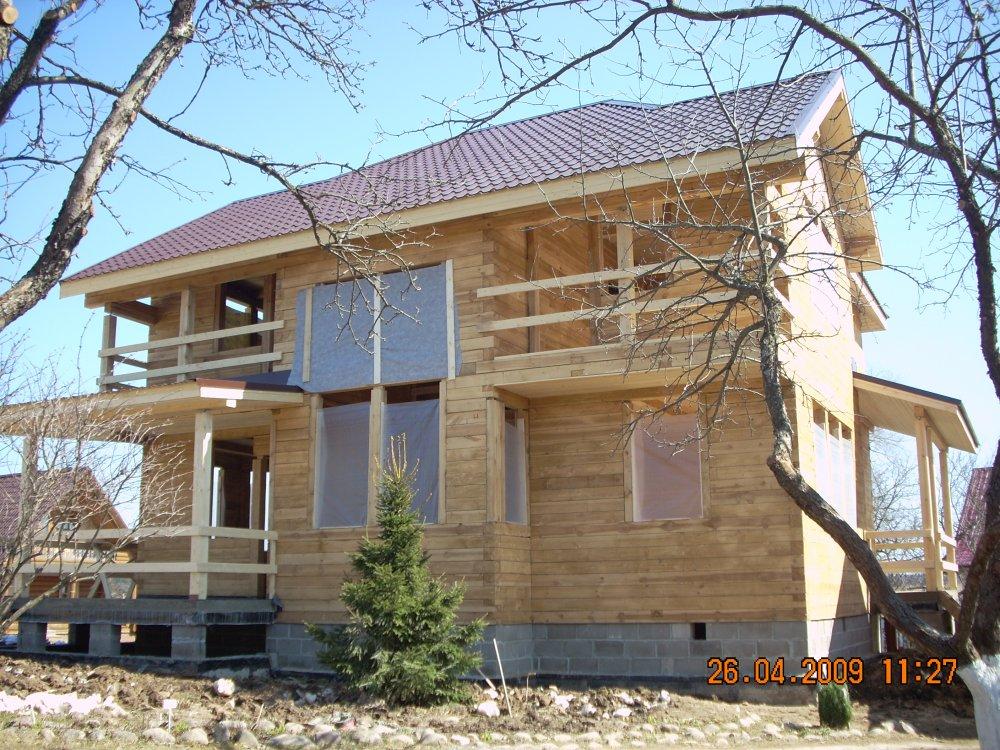 дом из профилированного бруса построенный по проекту Вариант 10.5 А фотография 5872