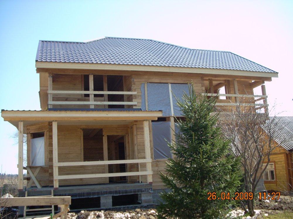 дом из профилированного бруса построенный по проекту Вариант 10.5 А фотография 5873