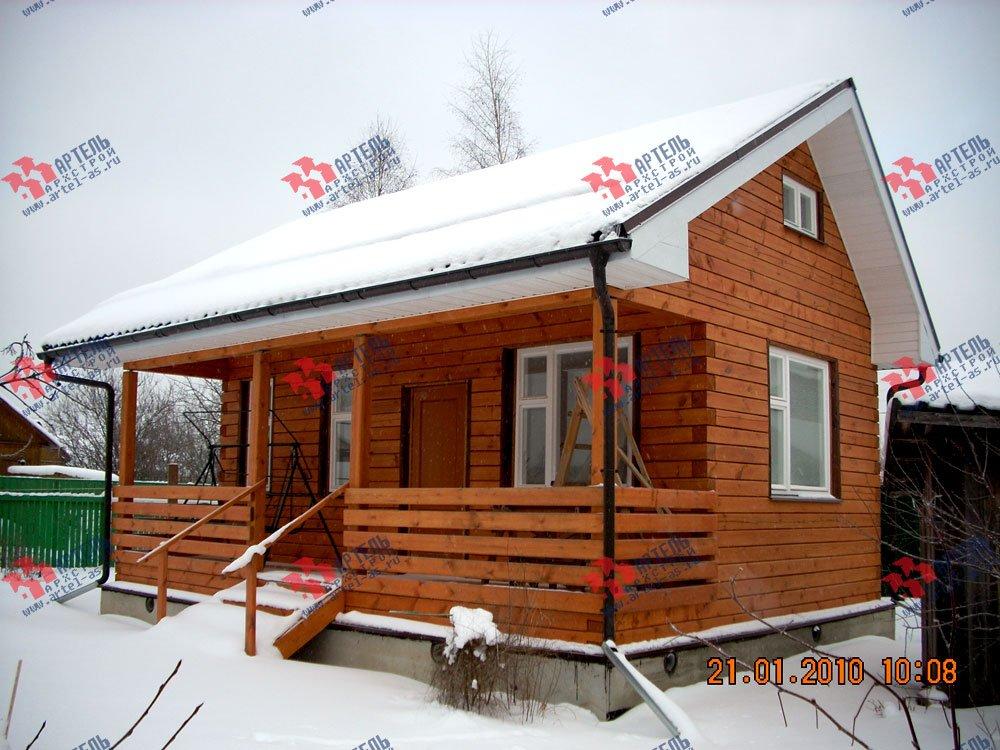 дом из профилированного бруса построенный по проекту Вариант 1 фотография 1600