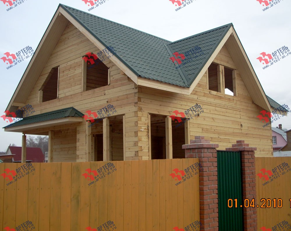 дом из профилированного бруса построенный по проекту Вариант 8.5 В фотография 1702
