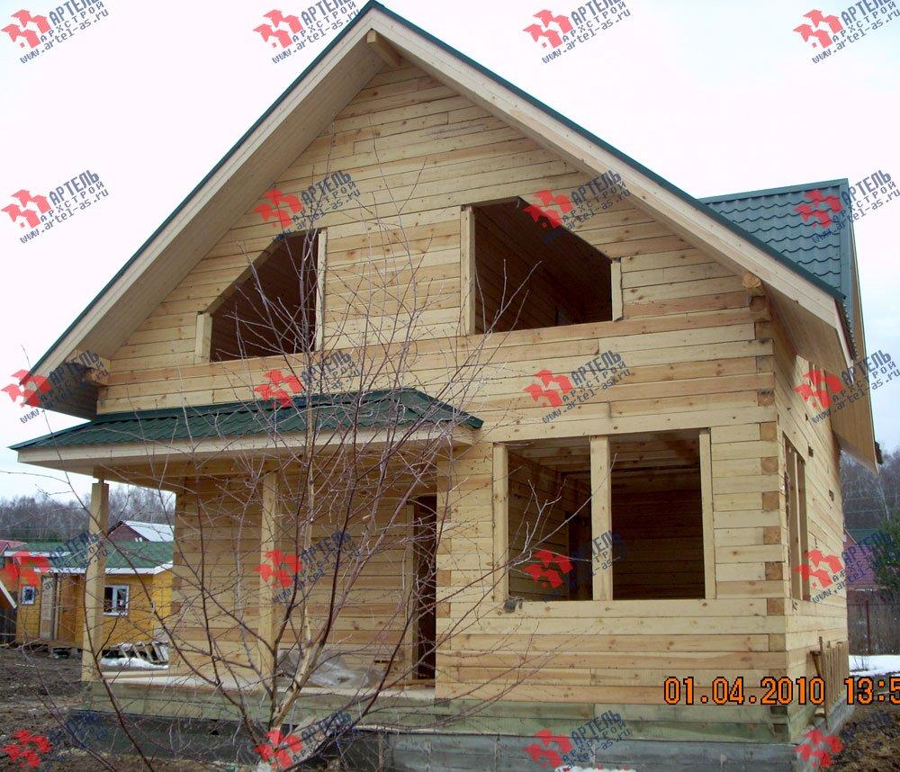 дом из профилированного бруса построенный по проекту Вариант 8.5 В фотография 1704