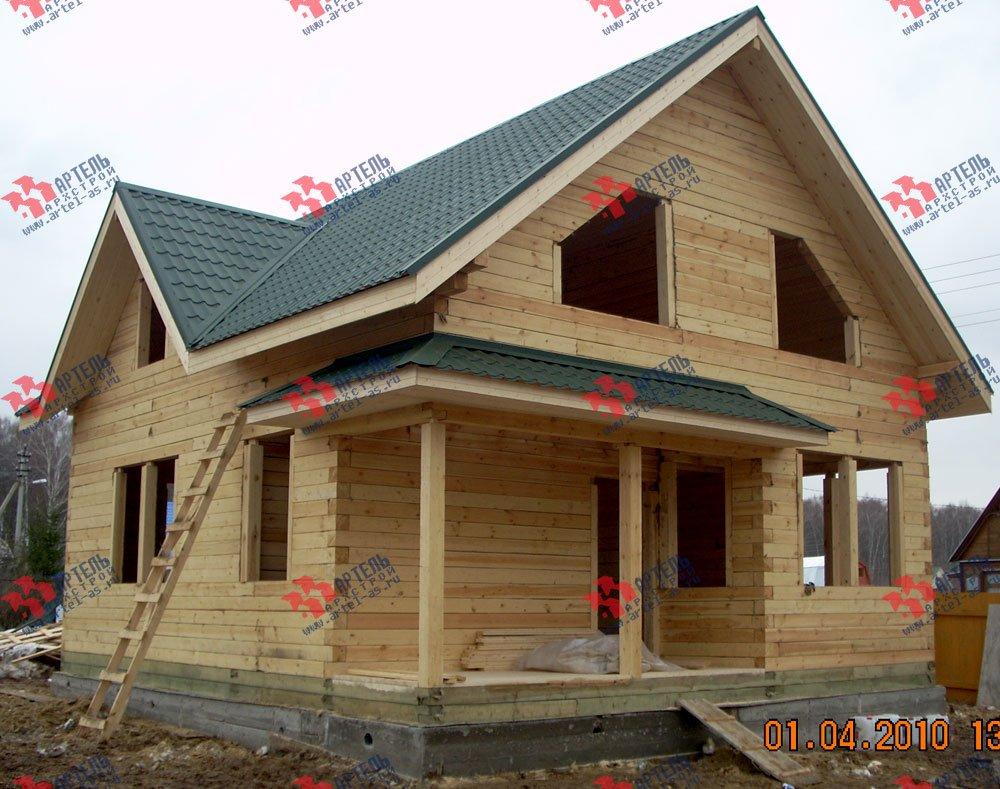 дом из профилированного бруса построенный по проекту Вариант 8.5 В фотография 1706