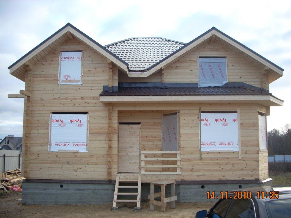 дом из бруса построенный по проекту Вариант 9 Г фотография 5800