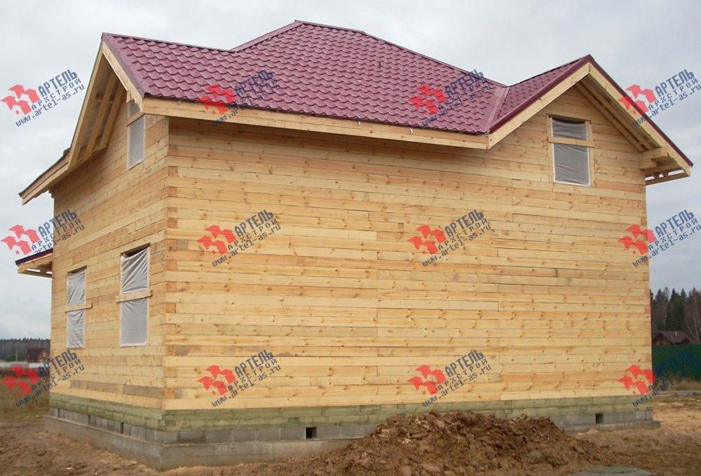 дом из бруса построенный по проекту Вариант 9 Г фотография 2239