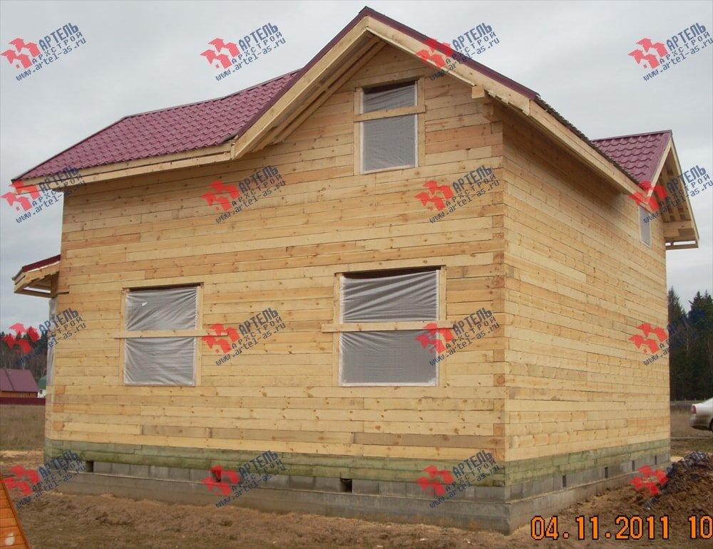 дом из бруса построенный по проекту Вариант 9 Г фотография 2236