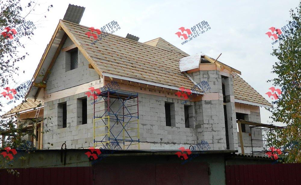 дом омбинированные дома построенный по проекту Вариант 24 фотография 2832