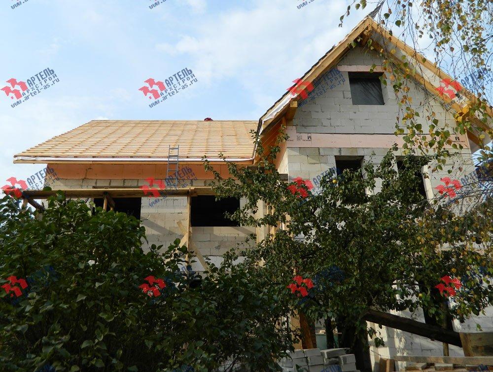дом омбинированные дома построенный по проекту Вариант 24 фотография 2834