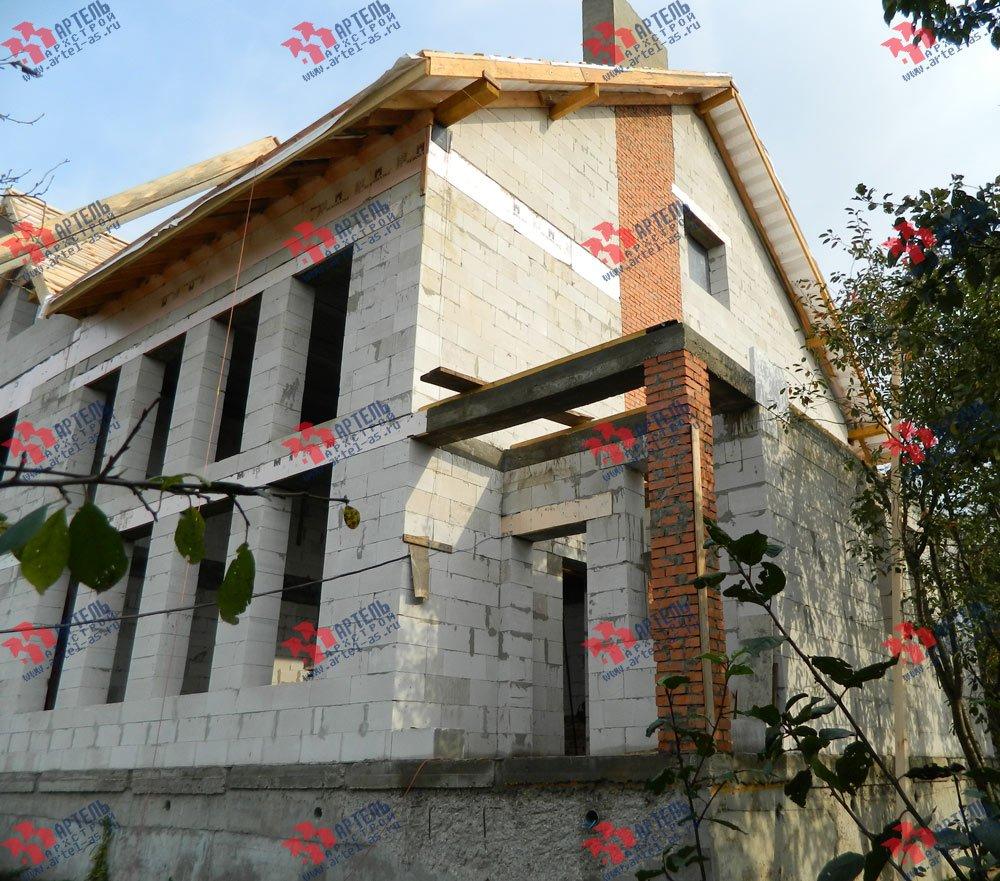 дом омбинированные дома построенный по проекту Вариант 24 фотография 2835