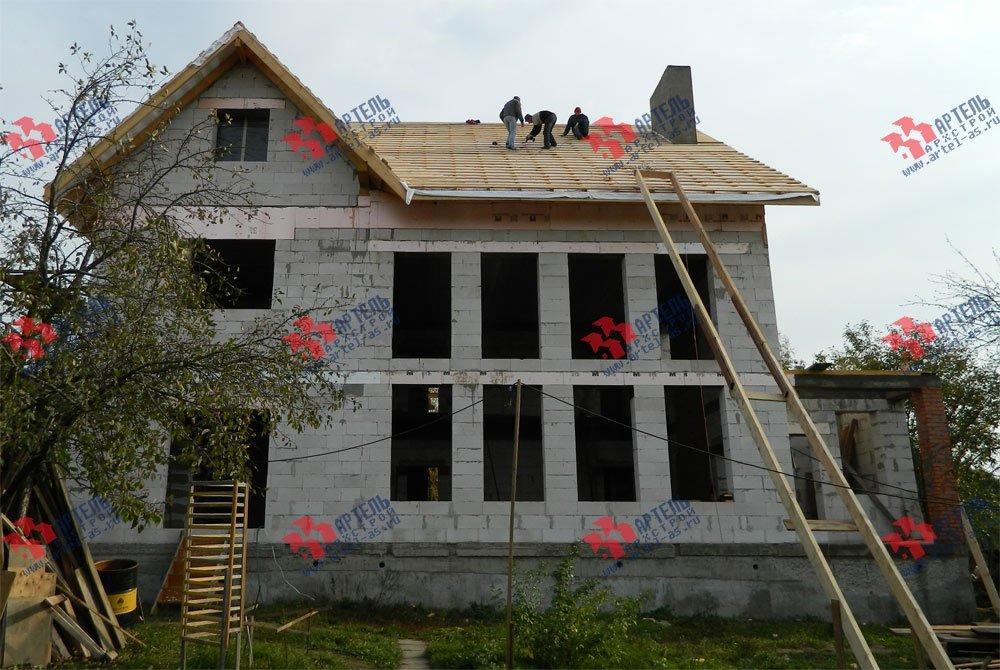 дом омбинированные дома построенный по проекту Вариант 24 фотография 2836