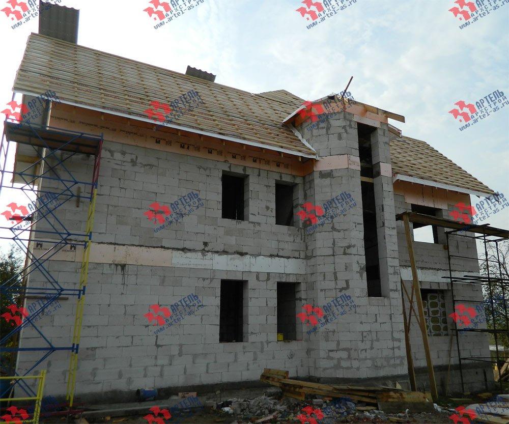 дом омбинированные дома построенный по проекту Вариант 24 фотография 2838