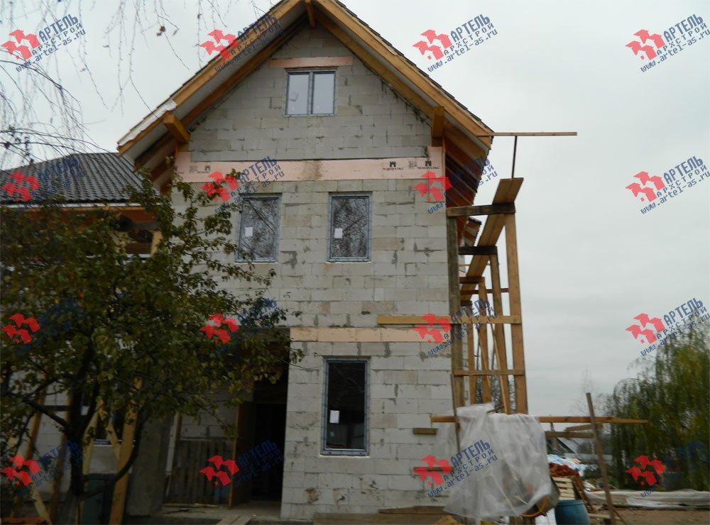 дом омбинированные дома построенный по проекту Вариант 24 фотография 2839