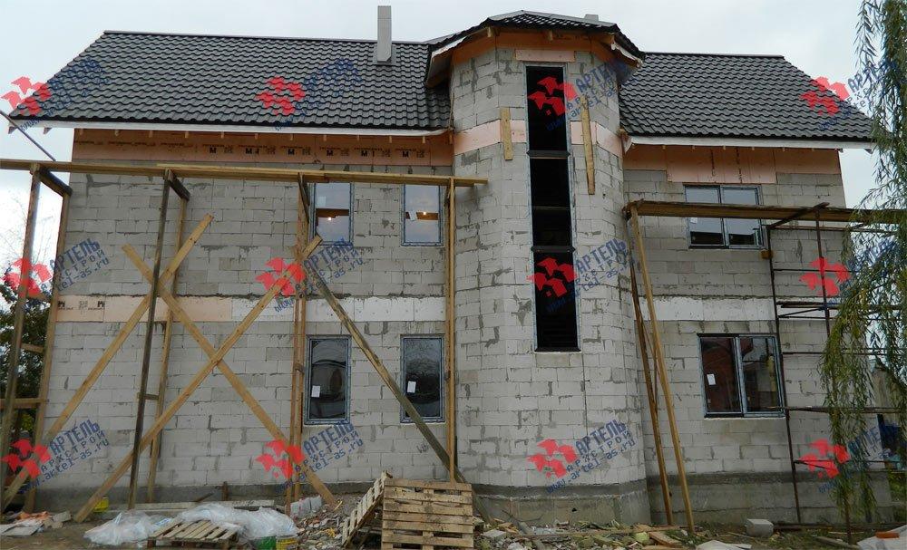 дом омбинированные дома построенный по проекту Вариант 24 фотография 2840