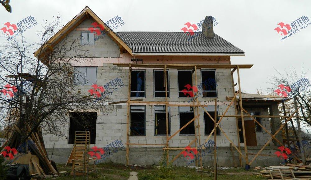 дом омбинированные дома построенный по проекту Вариант 24 фотография 2842