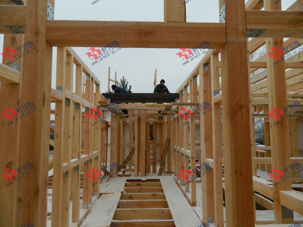 дом из профилированного бруса камерной сушки построенный по проекту Вариант 5 фотография 2963