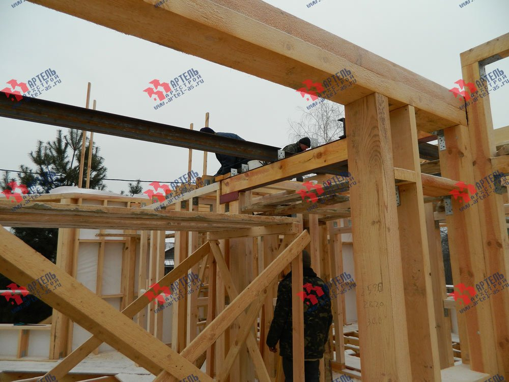 дом из профилированного бруса камерной сушки построенный по проекту Вариант 5 фотография 2965