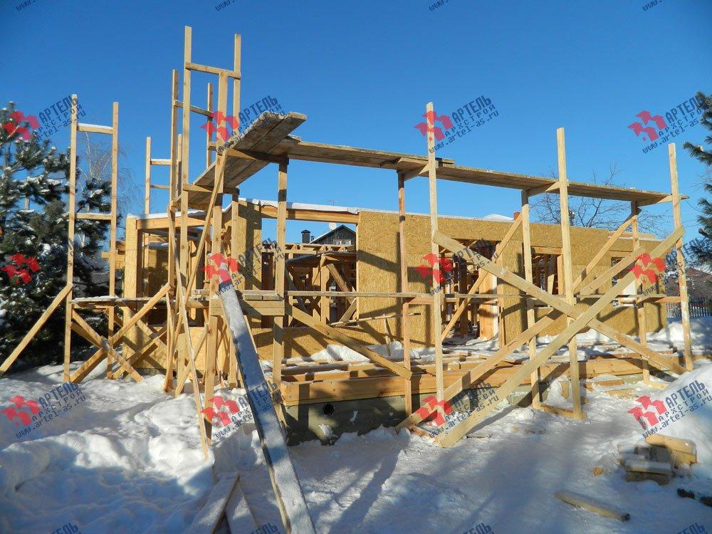 дом из профилированного бруса камерной сушки построенный по проекту Вариант 5 фотография 2968