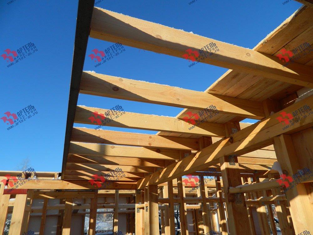 дом из профилированного бруса камерной сушки построенный по проекту Вариант 5 фотография 2969